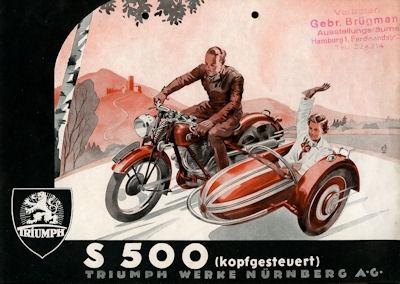Triumph S 500 Prospekt 1936