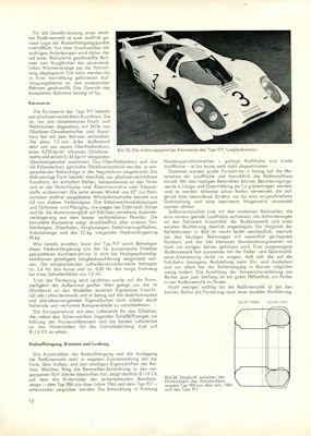 Porsche 4,5 Ltr. Rennsportwagen Typ 917 Test ATZ 1970 2