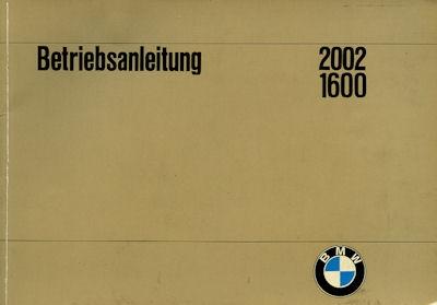 BMW 1600 2002 Bedienungsanleitung 7.1968