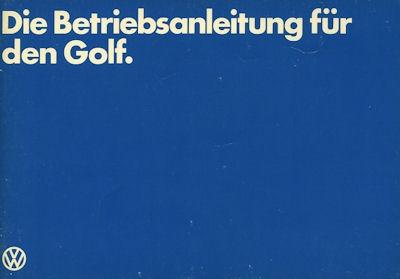 VW Golf 1 Bedienungsanleitung 8.1979