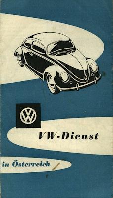 VW Dienst Landkarte Östereich ca. 1960