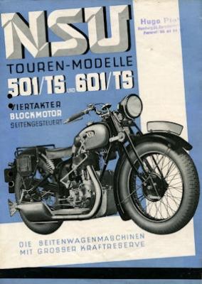 NSU 501 TS + 601 TS Prospekt 1934