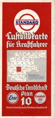 Standard Luftbildkarte Plan 10 Erfurt 1930er Jahre