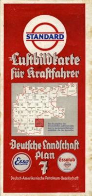 Standard Luftbildkarte Plan 7 Passau 1930er Jahre