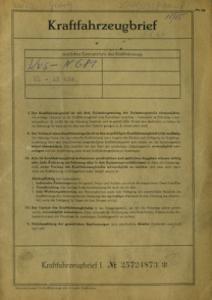 Glas Goggo T 250 Original Fahrzeugbrief 1962