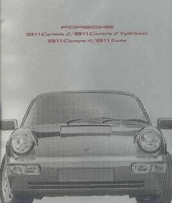 Porsche 911 Prospekt 8.1990