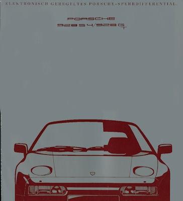 Porsche 928 S4 / GT Sperrdifferential Prospekt 1991
