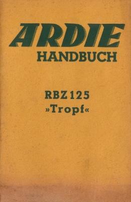 Ardie RBZ 125 Tropf Bedienungsanleitung 1937-1938