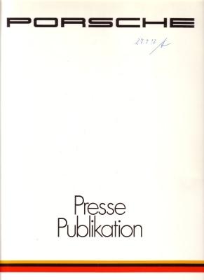 Porsche Programm 1983 Pressemappe