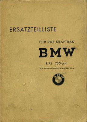 BMW R 75 / 750 ccm Ersatzteilliste 8.1941