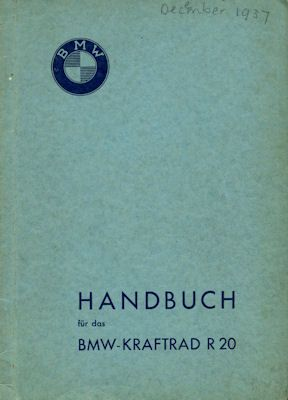 BMW R 20 Bedienungsanleitung 1938
