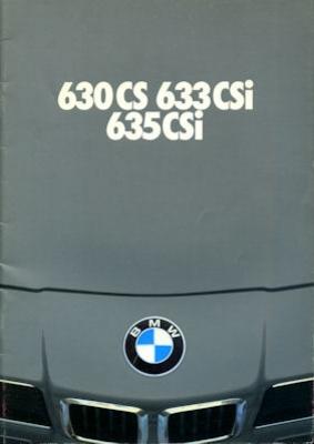 BMW 630 CS 633 635 CSI Prospekt 1979