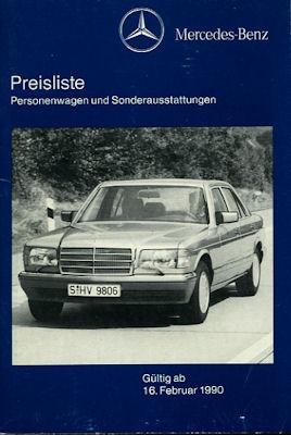 Mercedes-Benz Preisliste 2.1990