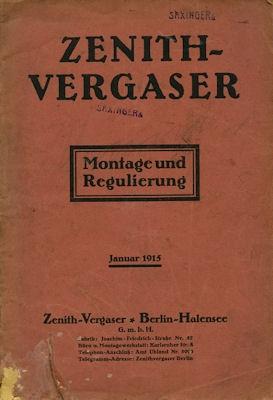Zenith Vergaser 1915
