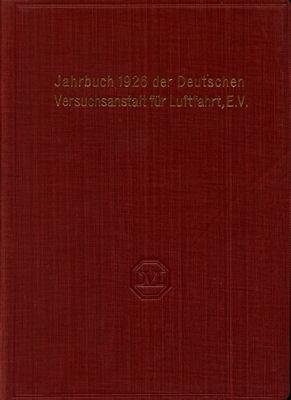 Jahrbuch 1926 der deutschen Versuchsanstalt für Luftfahrt e.V.