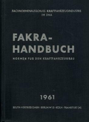 Fakra-Handbuch, Normen für den Kraftfahrzeugbau 1961