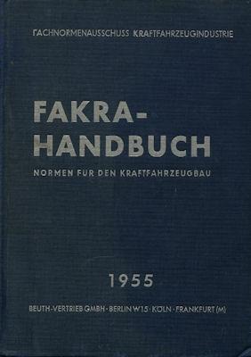 Fakra-Handbuch, Normen für den Kraftfahrzeugbau 1955