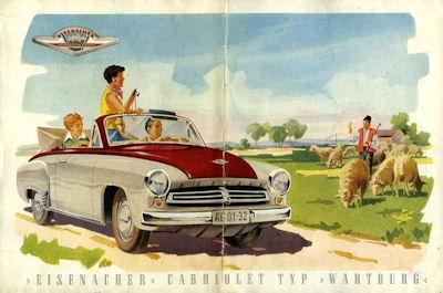 Wartburg 311 Cabriolet Prospekt 1956