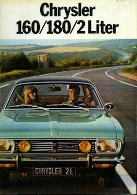 Simca Chrysler 160 / 180 Prospekt 1975