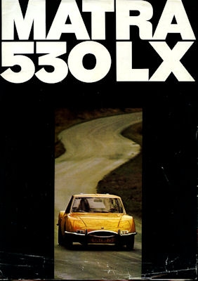 Simca Matra 530 LX Prospekt ca. 1970
