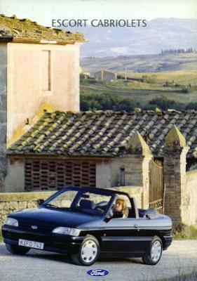 Ford Escort Cabriolets Prospekt 1992