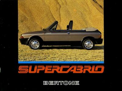 Fiat Ritmo Bertone Cabrio Prospekt 1980er Jahre