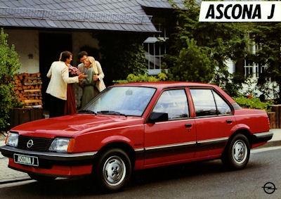 Opel Ascona J Prospekt 1983