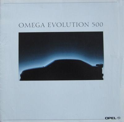Opel Omega Evolution 500 Prospekt 1992