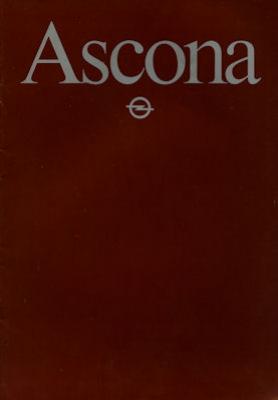 Opel Ascona Prospekt 1983