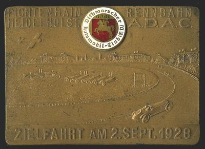 ADAC Plakette Zielfahrt Fichtenhain Rennbahn Heide / Holstein 2.9.1928