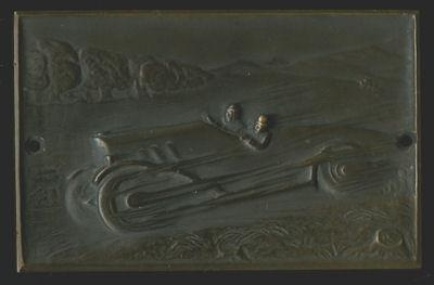 Plakette Rennwagen 1920er Jahre