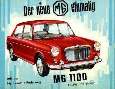MG 1100 Prospekt 1960er Jahre