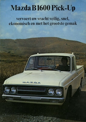Mazda B 1600 Pick-Up Prospekt ca. 1975 nl