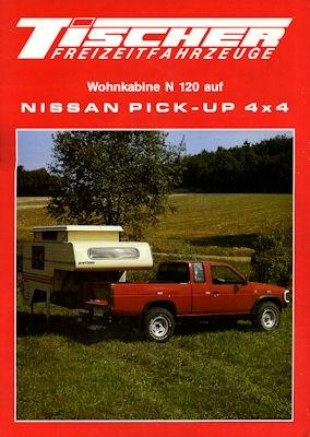 Nissan Pick-Up 4x4 + Wohnkabine Prospekt 1989