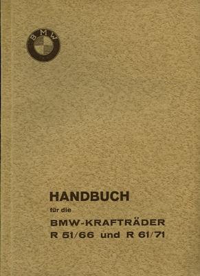 BMW R 51 61 66 71 Bedienungsanleitung 1938