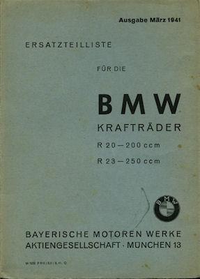 BMW R 20 23 Ersatzteilliste 1942