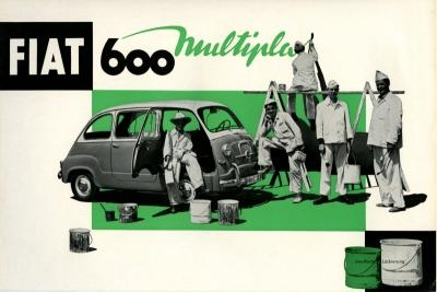 Fiat 600 Multipla Prospekt ca. 1960