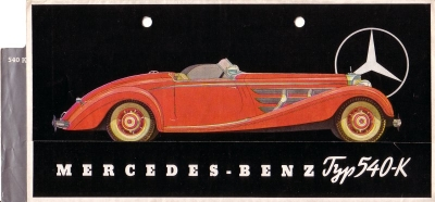 Mercedes-Benz Typ 540 K Prospekt 1938