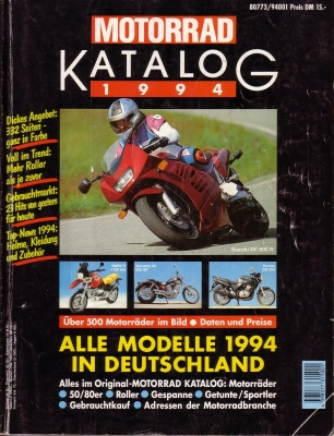 Motorrad Katalog Nr 25 1994