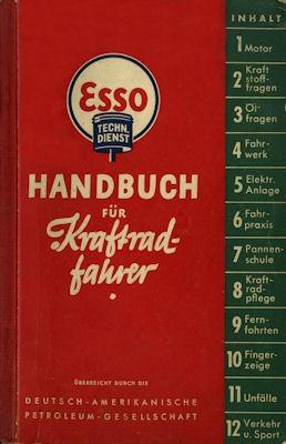 Standard / ESSO Handbuch für Kraftradfahrer 1938