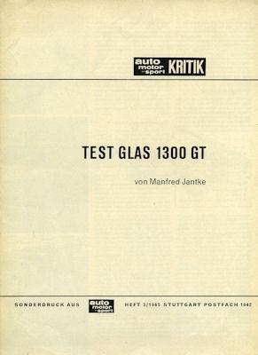Glas 1300 GT Test 1965