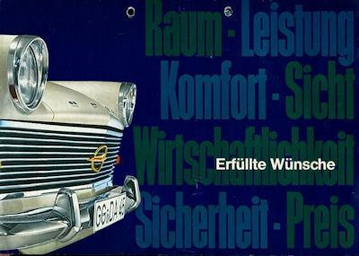 Opel Rekord P 2 Prospekt 1963