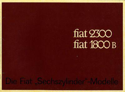 Fiat 2300 / 1800 B Prospekt ca. 1963
