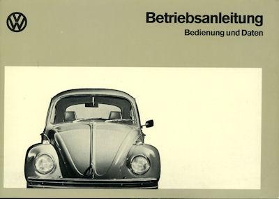 VW Käfer 1200 1300 Bedienungsanleitung Teil A 8.1972