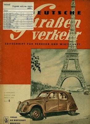 Der Deutsche Straßenverkehr 1954 Heft 8