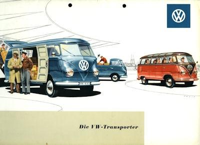 VW Mappe für Transporter Prospekte ca. 1955