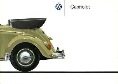 VW Käfer Cabriolet Prospekt 1961