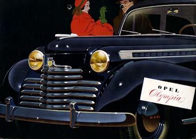 Opel Olympia Prospekt ca. 1952