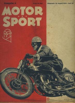 Motor & Sport 1930 Heft 32