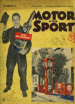 Motor & Sport 1930 Heft 43